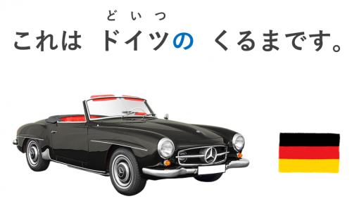 これは日本の車です。(これはドイツの車です。)