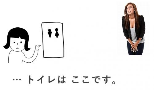 トイレはここ 日本語初級・第3課の教案とイラスト