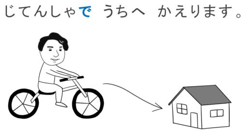 乗り物(で) 第5課のイラスト