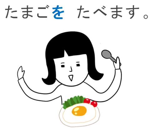 卵を食べる