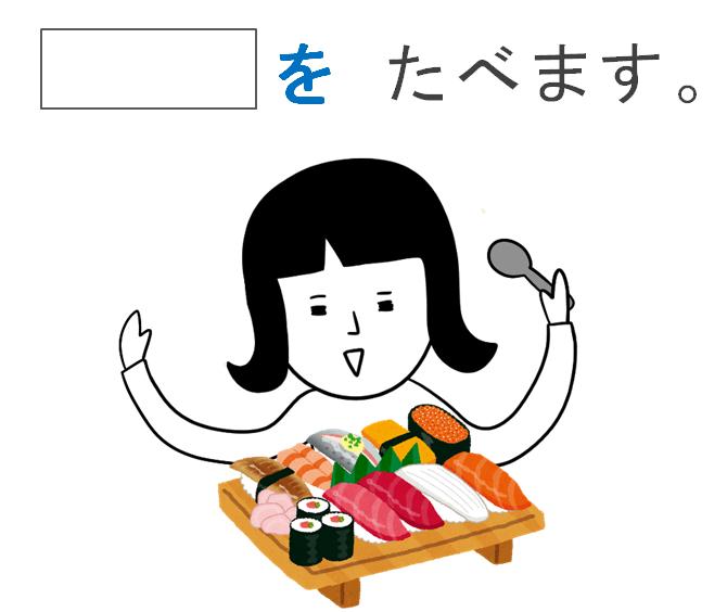 みんなの日本語第6課の教案イラスト他動詞ますの導入