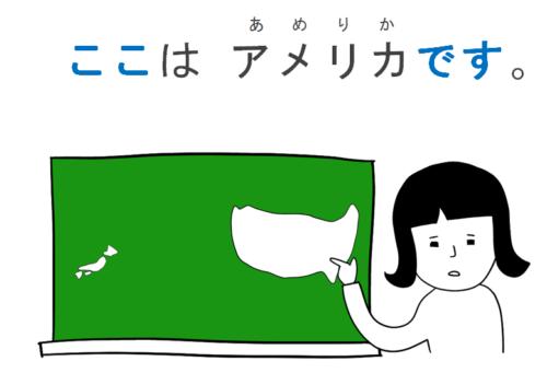 あそこ 日本語初級・第3課の教案とイラスト