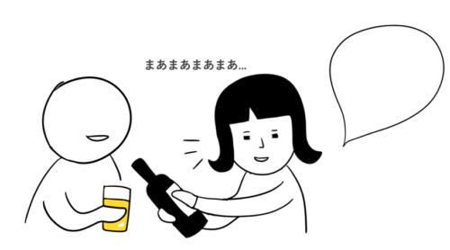 第14課の教案とイラスト(みんなの日本語) 上司に酒を勧める