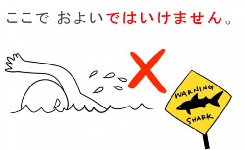 第15課みんなの日本語」教案とイラスト 泳いではいけません