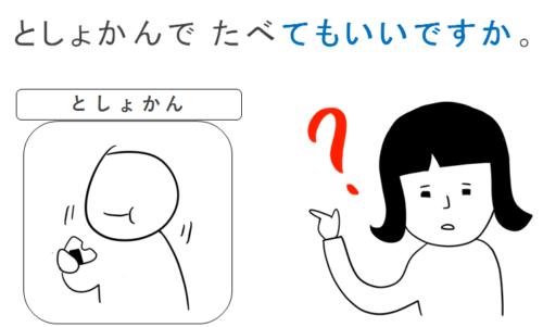 第15課みんなの日本語」教案とイラスト 食べてもいいですか