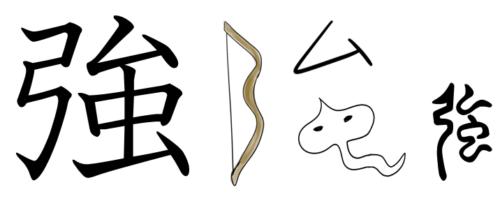 漢字の成り立ち・イラスト「強」