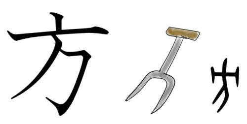 漢字の成り立ち・イラスト「方」