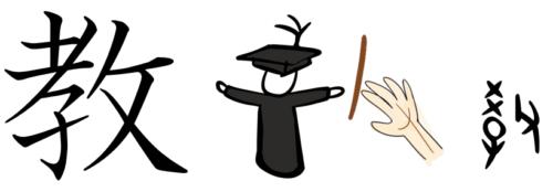 漢字の成り立ち・イラスト「教」