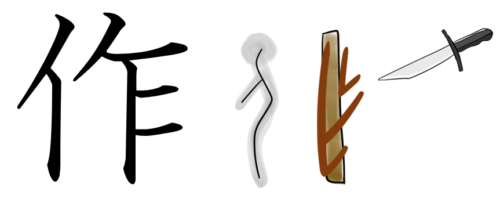 漢字の成り立ち・イラスト「作」