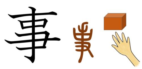 漢字の成り立ち・イラスト「事」