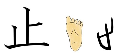 漢字の成り立ち・イラスト「止」