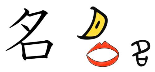 漢字の成り立ち・イラスト「名」