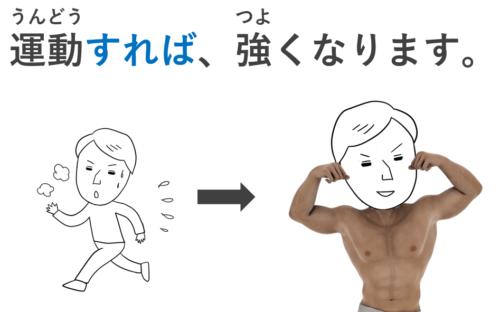 運動すれば、強くなります。
