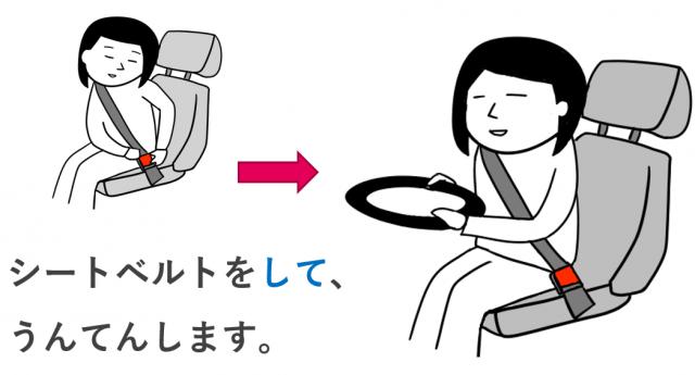 シートベルトをして運転します(付帯状況)