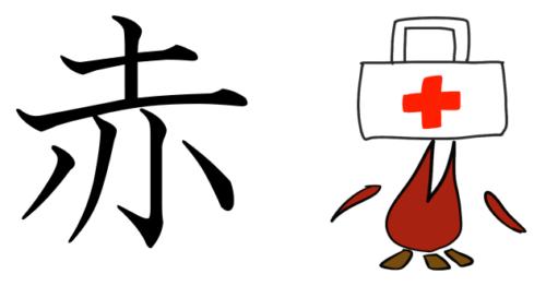 赤 漢字 成り立ち