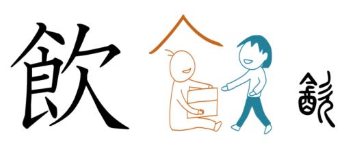 飲 漢字の成り立ち