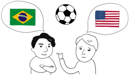 サッカー 試合 ブラジル アメリカ