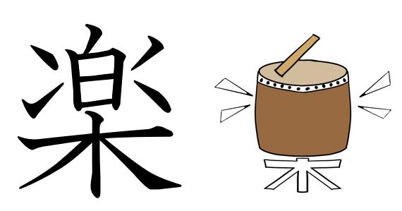 楽 漢字 成り立ち イラスト 絵