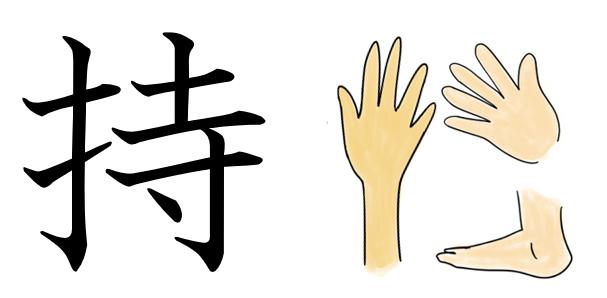 持つ 漢字 成り立ち 語源 絵 イラスト