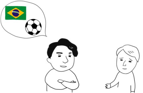 ブラジルはサッカーが強いと思います