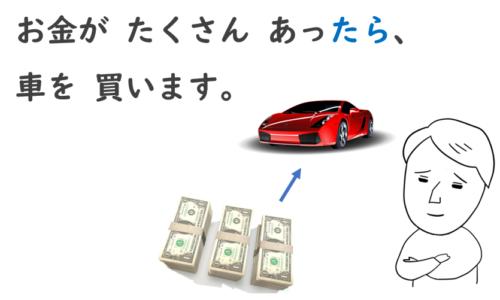 お金があったら車を買います