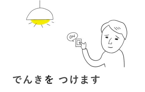 電気をつける
