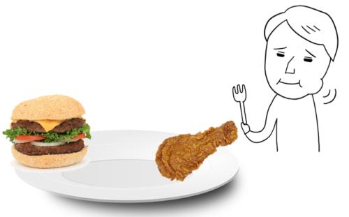 パクパク 食べる