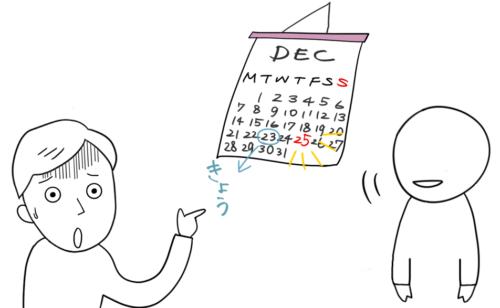 カレンダー クリスマス びっくり 驚き