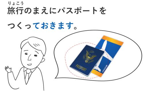 旅行 パスポート 作る ておきます 準備 日本語 教案 イラスト