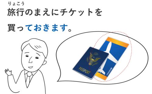 旅行 チケット 作る ておきます 準備 日本語 教案 イラスト