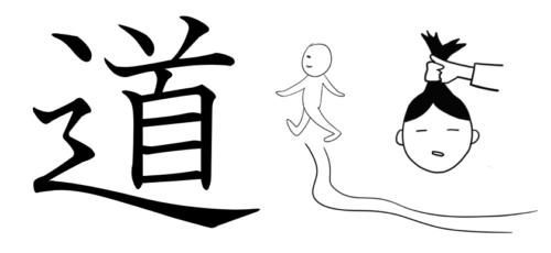 道 成り立ち イラスト 起源 漢字