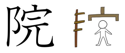 院 漢字 成り立ち イラスト 起源