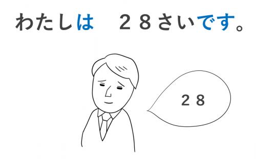 歳です 年齢 導入 日本語