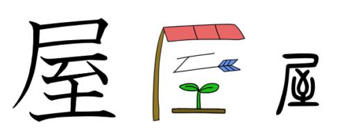 屋 漢字 成り立ち イラスト