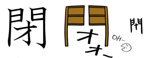 閉める 漢字 成り立ち イラスト