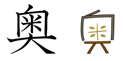 奥 漢字 成り立ち イメージ
