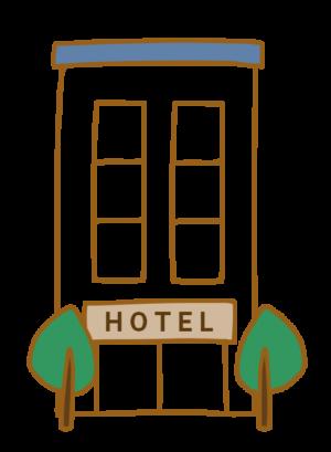ホテル イラスト